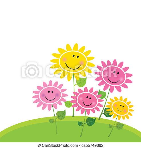 kwiat, szczęśliwy, wiosna, ogród - csp5749882