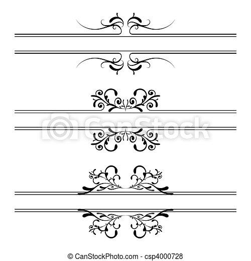 kwiatowa ozdoba, chorągiew - csp4000728