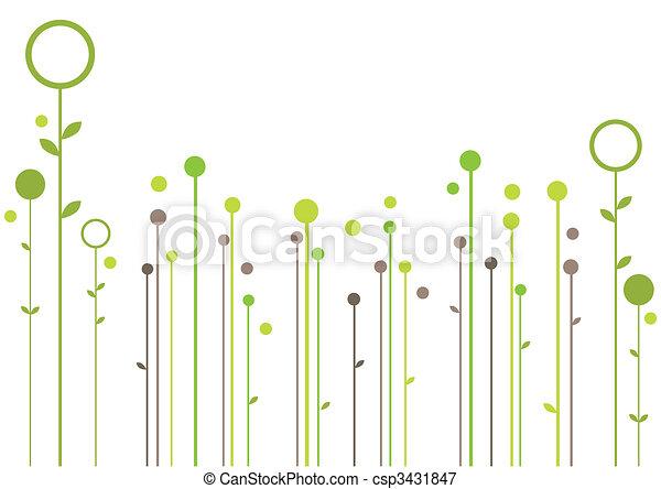 kwiatowy, abstrakcyjny zamiar - csp3431847