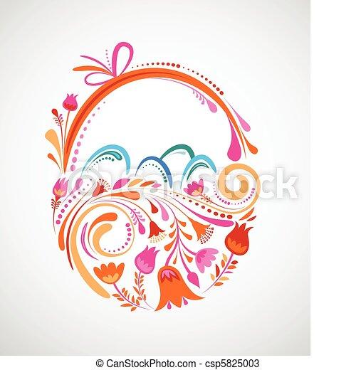 kwiatowy kosz, wielkanoc - csp5825003