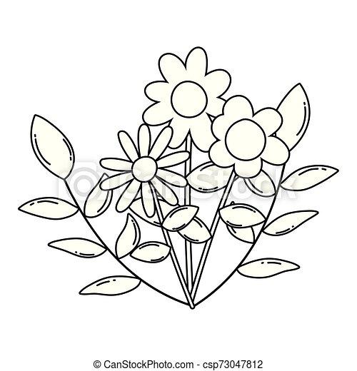 kwiaty, wektor, projektować, odizolowany, ilustracja - csp73047812