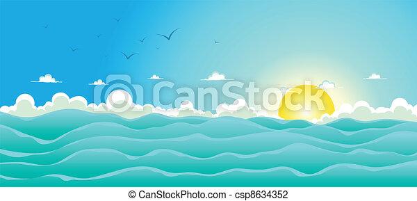 lato, tło, ocean - csp8634352