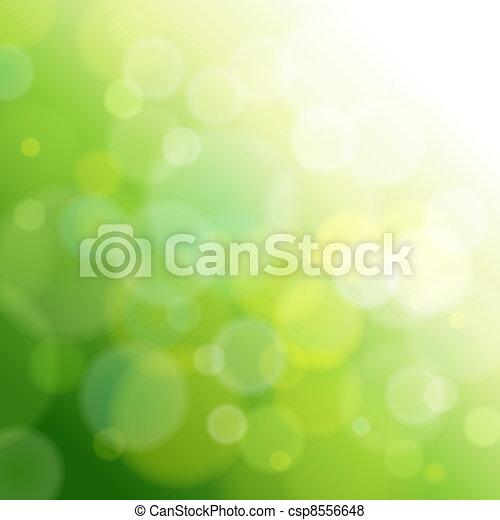 lekki, abstrakcyjny, zielony, tło. - csp8556648