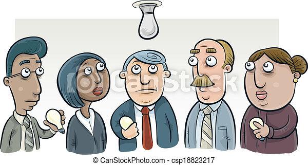 lightbulb, zmiana, komitet - csp18823217