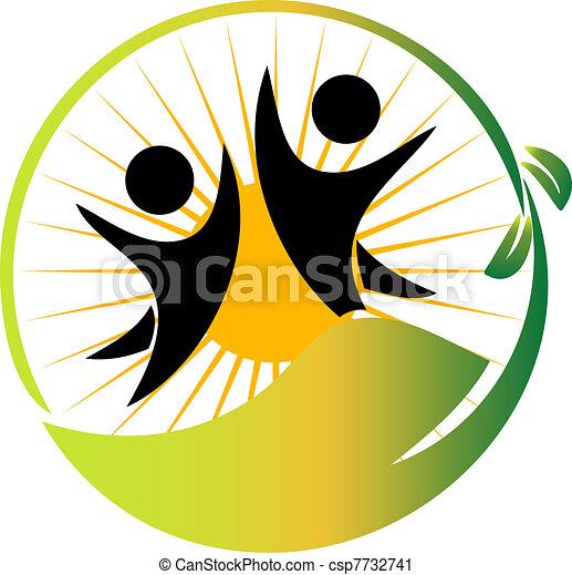 logo, drużyna, wektor, natura - csp7732741