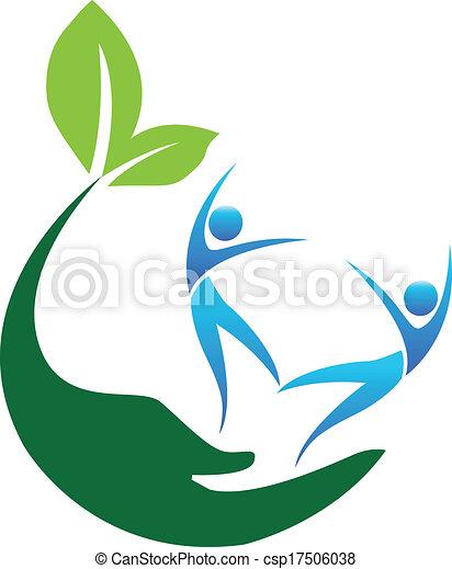 logo, szczęśliwy, ludzie, zdrowy - csp17506038
