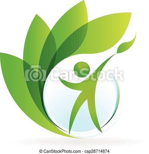 logo, wektor, zdrowie, natura - csp28714874