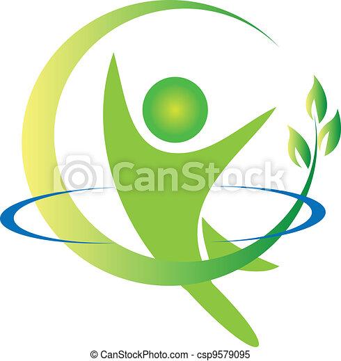 logo, wektor, zdrowie, natura - csp9579095