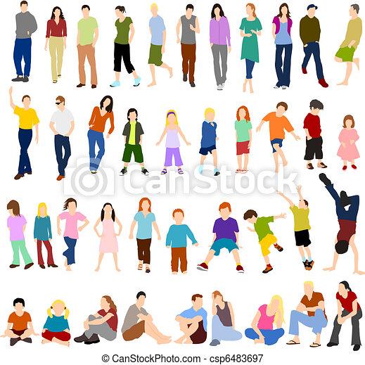 losy, mężczyźni, dzieci, kobiety - csp6483697