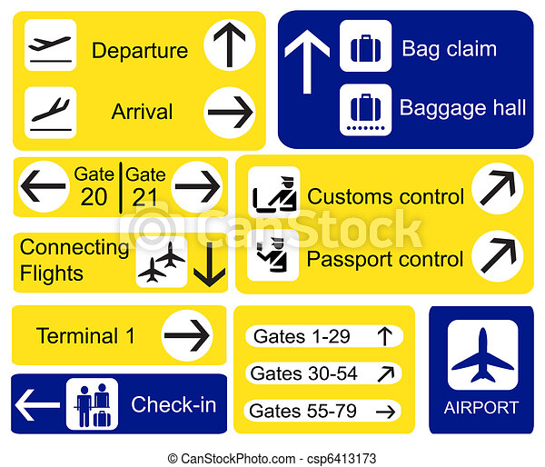 lotnisko, znaki - csp6413173