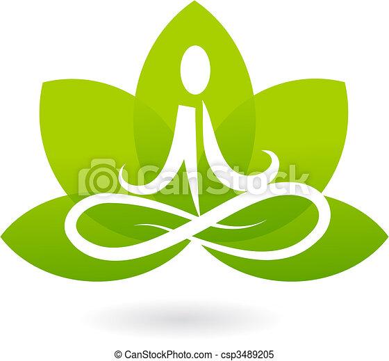 lotos, logo, yoga, /, ikona - csp3489205