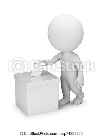 ludzie, głosowanie, -, 3d, mały - csp74829820