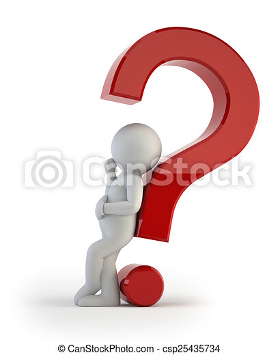 ludzie, -, pytanie, skomplikowany, mały, 3d - csp25435734