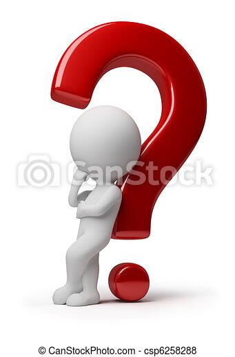 ludzie, -, pytanie, skomplikowany, mały, 3d - csp6258288