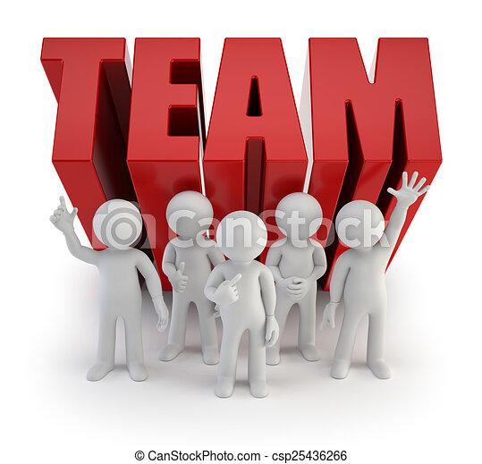 ludzie, solidny, -, drużyna, mały, 3d - csp25436266