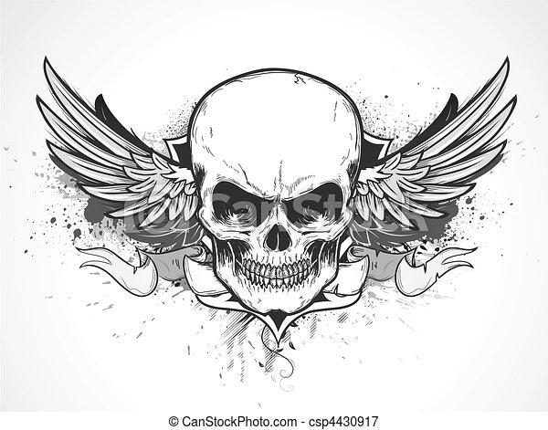 ludzka czaszka - csp4430917