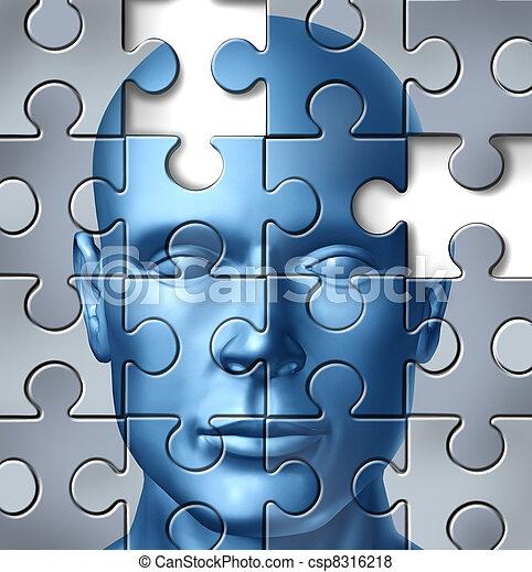 mózg, medyczny, ludzki, praca badawcza - csp8316218