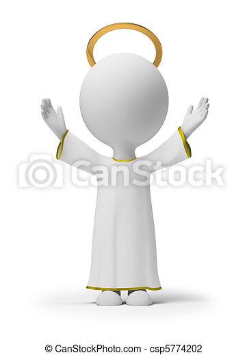 mały, bóg, 3d, -, ludzie - csp5774202