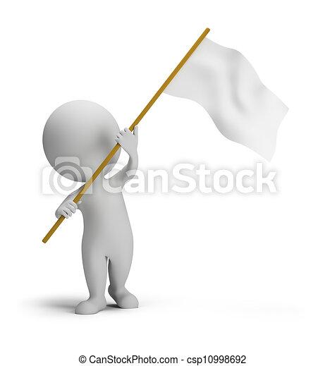 mały, bandera, 3d, -, ludzie - csp10998692