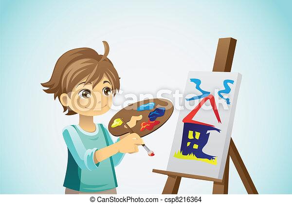 malarstwo, koźlę - csp8216364