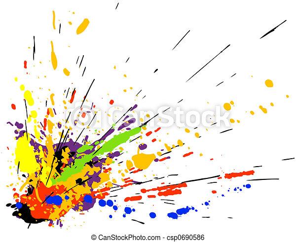 malować, bełkotać - csp0690586