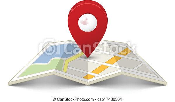 mapa przypinają - csp17430564