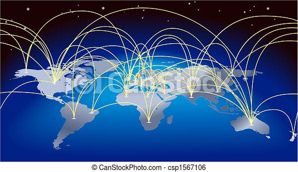 mapa tło, światowy handel - csp1567106