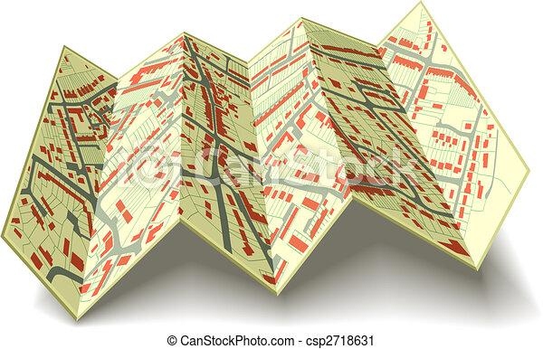 mapa, ulica, składany - csp2718631