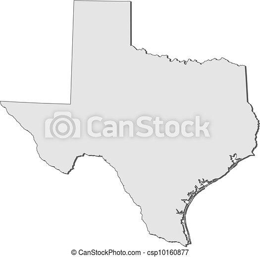 mapa, (united, states), texas - csp10160877