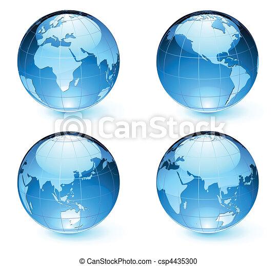 mapa, ziemia, kule, połyskujący - csp4435300