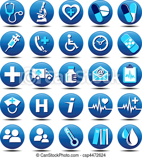 matt, troska, zdrowie, ikony - csp4472624