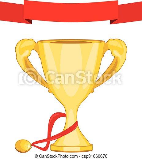 medal, filiżanka, złoty, mistrz - csp31660676