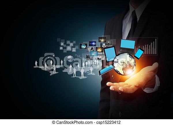 media, technologia, towarzyski - csp15223412