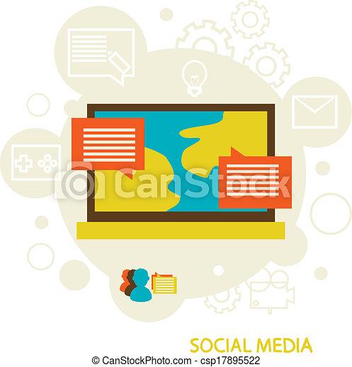 media, towarzyski - csp17895522