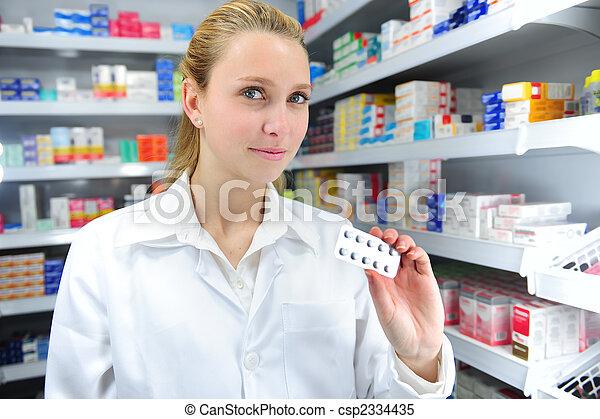 medycyna, sprzedajcie, farmaceuta - csp2334435