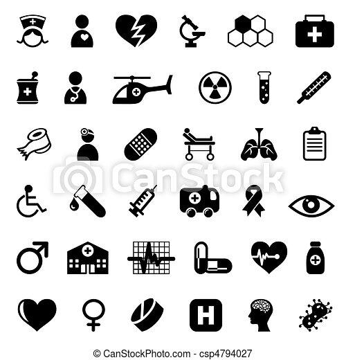 medyczne ikony - csp4794027