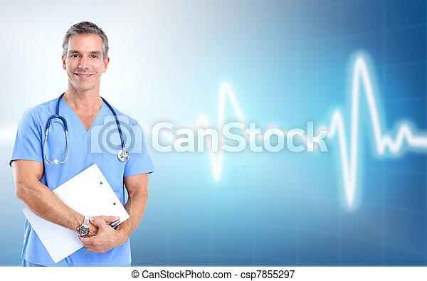 medyczny, cardiologist., zdrowie, care., doktor - csp7855297