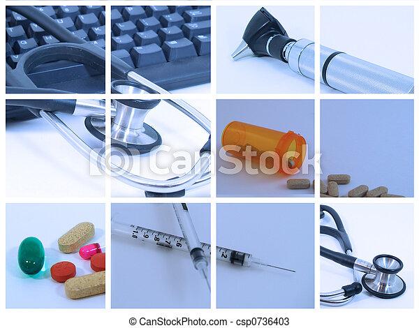 medyczny collage - csp0736403