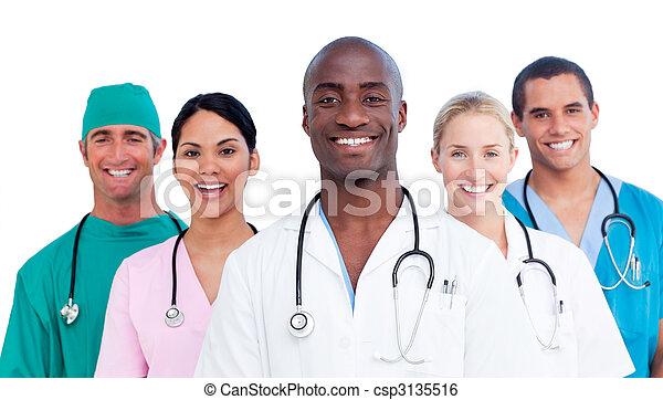 medyczny, dodatni, zaprzęg portret - csp3135516