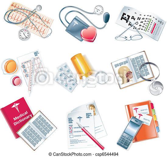 medyczny, wektor, komplet, ikona - csp6544494