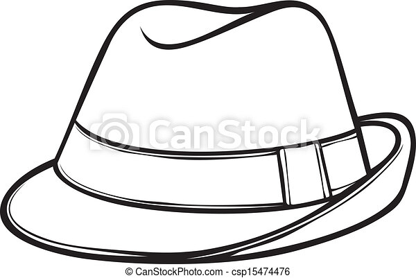 (men's, klasyk, kapelusz, fedora, fedora) - csp15474476