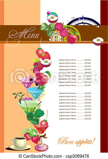 menu, (cafe), restauracja - csp3089476