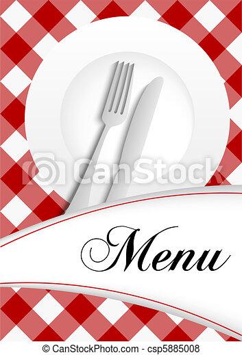 menu, projektować, karta - csp5885008