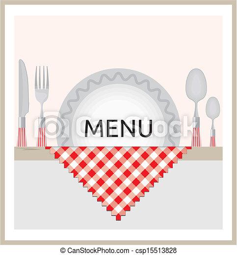 menu, projektować, restauracja - csp15513828