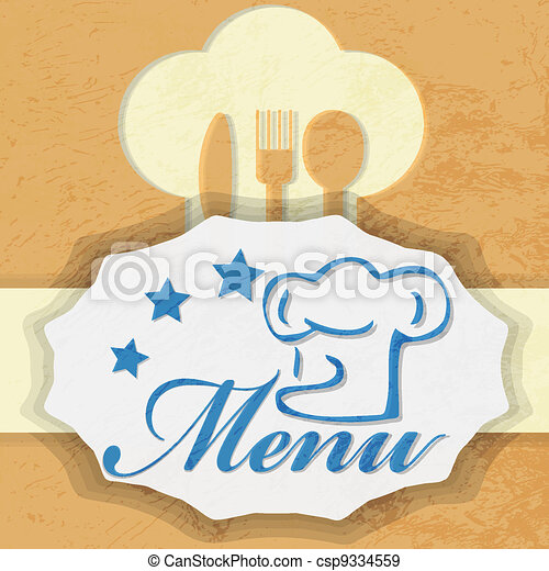 menu, projektować - csp9334559