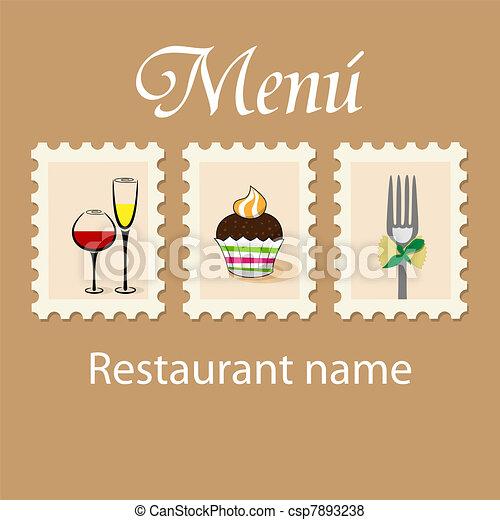 menu, projektować - csp7893238