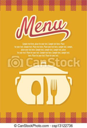 menu, restauracja - csp13122736