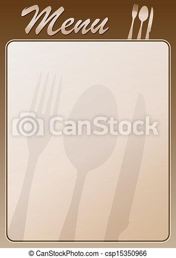 menu, restauracja - csp15350966