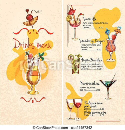 menu, rys, bar - csp24457342