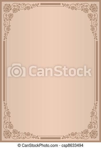 menu, tło - csp8633494